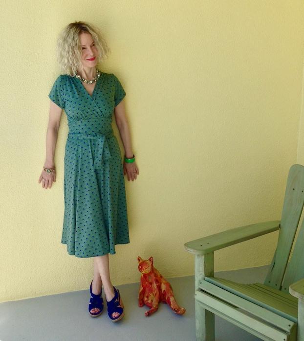 Karina dresses Margaret
